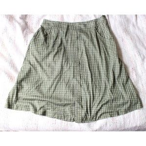 NWT Herion Italy Geometric Cotton Skirt